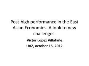 Post-high performance in the East Asian Economies. A look to new