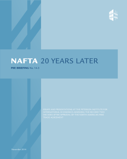 NAFTA 20 Years Later - Institute for International Economics