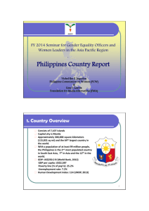 Philippines Country Report