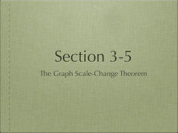 The Graph Scale-Change Theorem