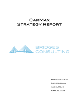 CarMax Strategy Report