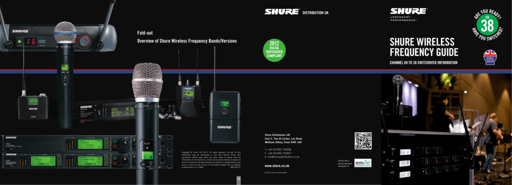 Shure WireleSS Frequency Guide