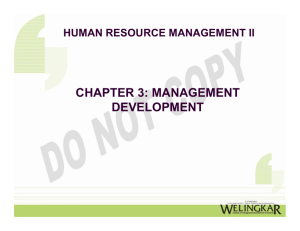 CHAPTER 3: MANAGEMENT DEVELOPMENT
