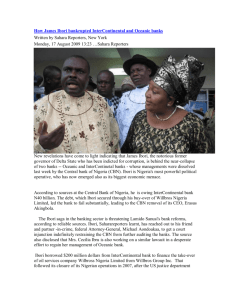 How James Ibori bankrupted InterContinental and Oceanic banks