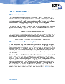 water consumption - Safe Drinking Water Foundation