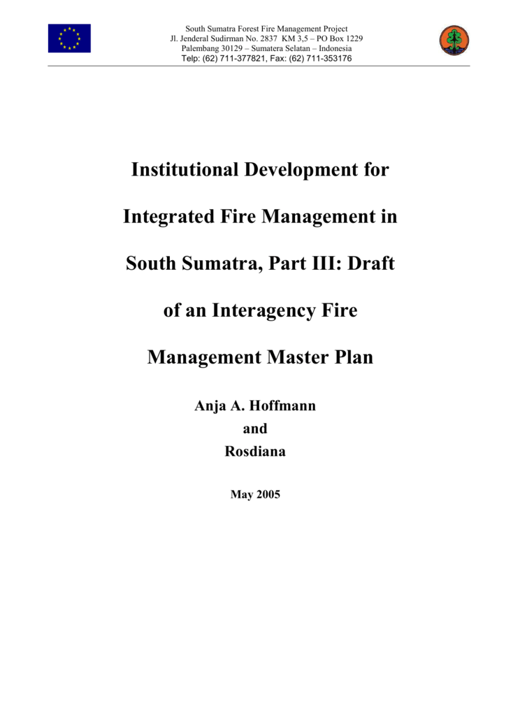 institutional development for integrated fire management in south