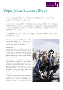 Pepe Jeans Success Story