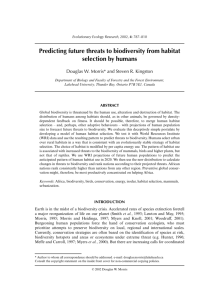 Predicting future threats to biodiversity from habitat selection by