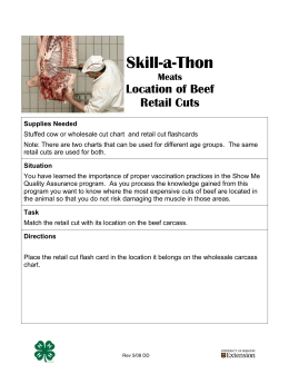 Skill-a-thon: Beef Retail Cuts Identification - Missouri 4-H