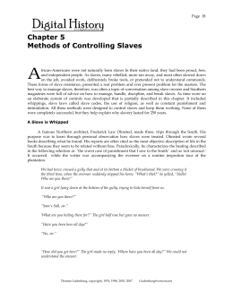 Chapter 5 Methods of Controlling Slaves