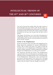 intellectual trends of the 19th and 20th centuries
