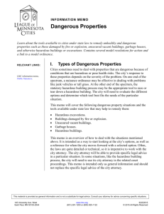 Dangerous Properties - League of Minnesota Cities