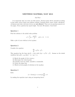 MIDTERM MATH263, MAY 2013