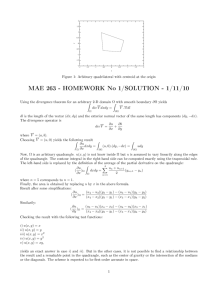 MAE 263 - HOMEWORK No 1/SOLUTION