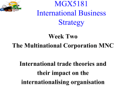 MGF5181 International Business Strategy