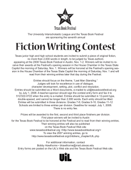Fiction Writing Contest