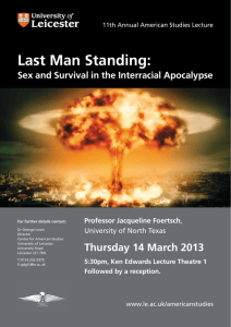 Last Man Standing: - University of Leicester