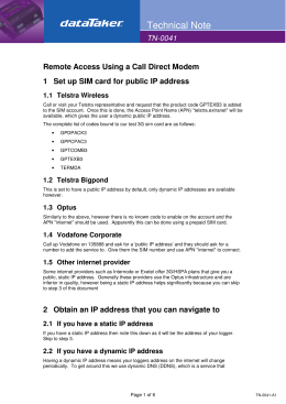 Remote Access Using a Call Direct Modem