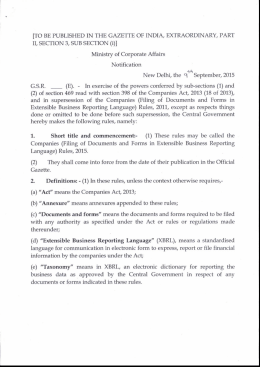 Companies (Filing of documents and forms in XBRL) Rules, 2015