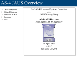 AS-4 JAUS Overview