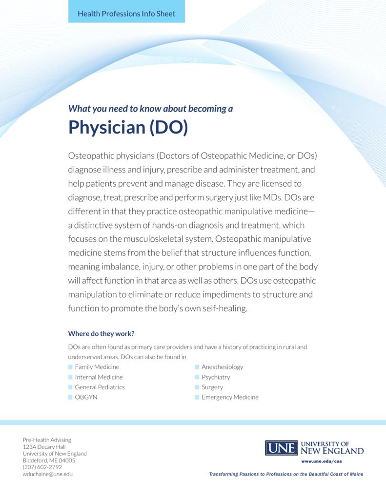 Physician (DO) - University of New England