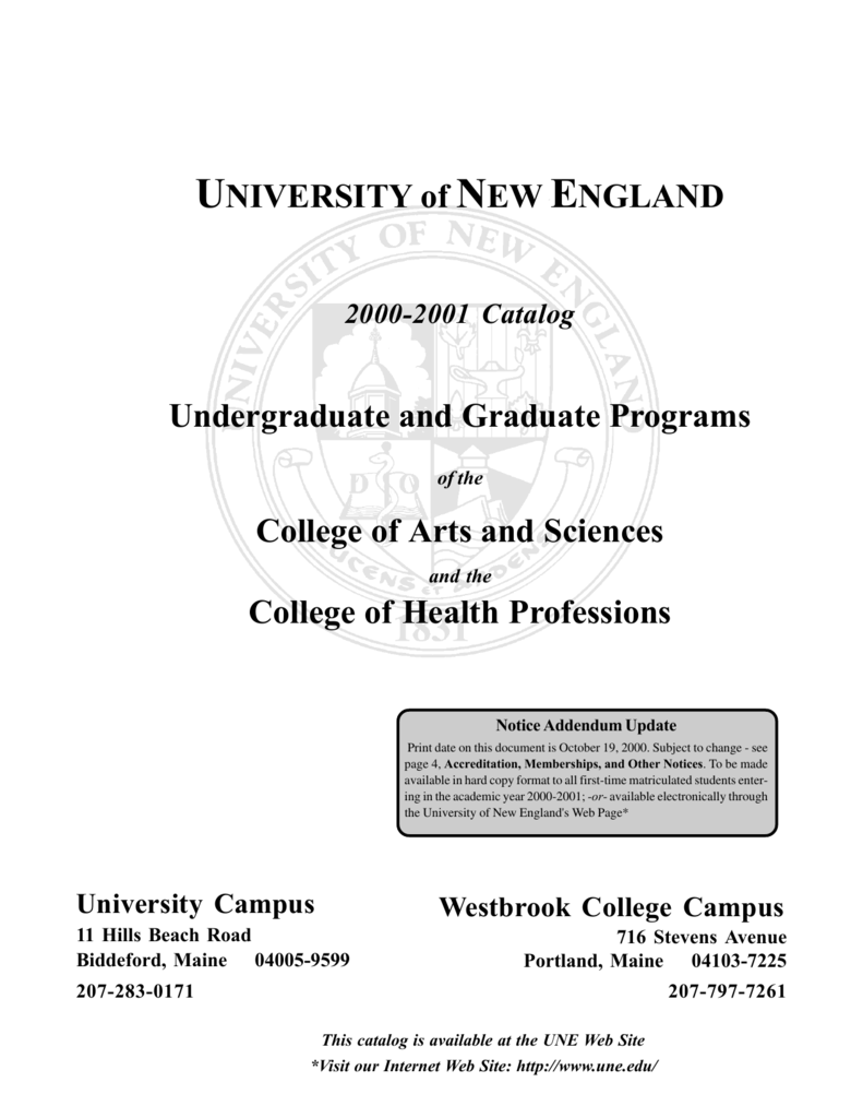 Graduate Section University Of New England