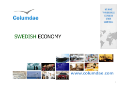 Click here for Swedish Economy PDF presentation
