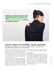 seven keys to healthy neck posture