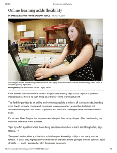Calgary Herald | Online Learning Adds Flexibility