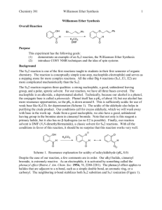 Chemistry 381 Williamson Ether Synthesis 1 Williamson Ether