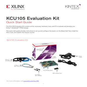 KCU105 Evaluation Kit Quick Start Guide (XTP391)