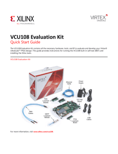 VCU108 Evaluation Kit Quick Start Guide (XTP400)