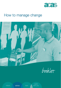 How To Manage Change Text - University of Southampton
