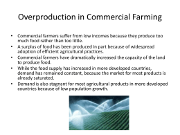 Overproduction in Commercial Farming