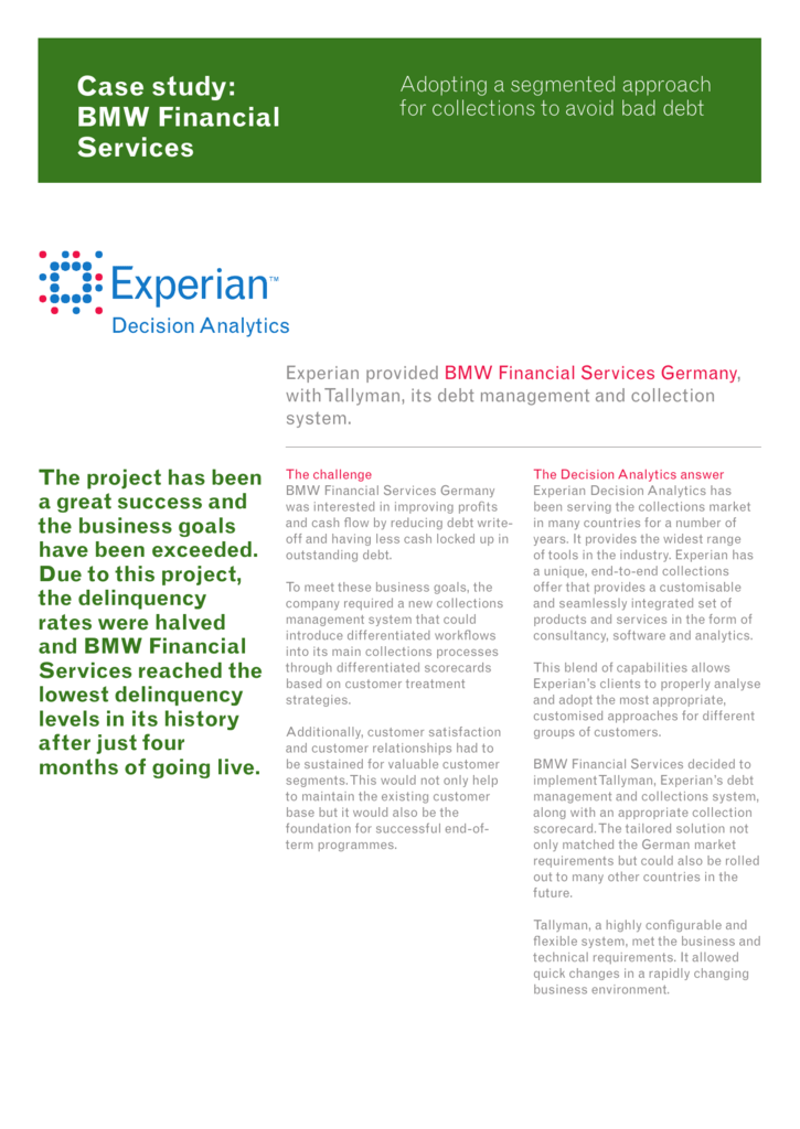 Case study: BMW Financial Services