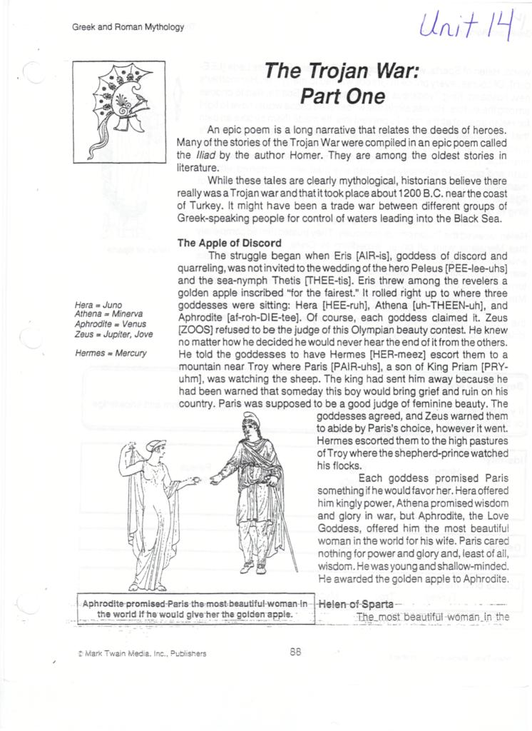 Mythology trojan war answer guide array the trojan war part one rh studylib publicscrutiny Gallery