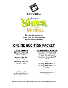 online audition packet - Midland Center for the Arts