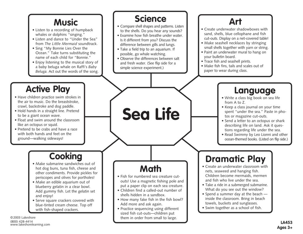 sea life lakeshore learning materials