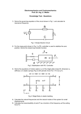 Electromechanics and Contromechanics