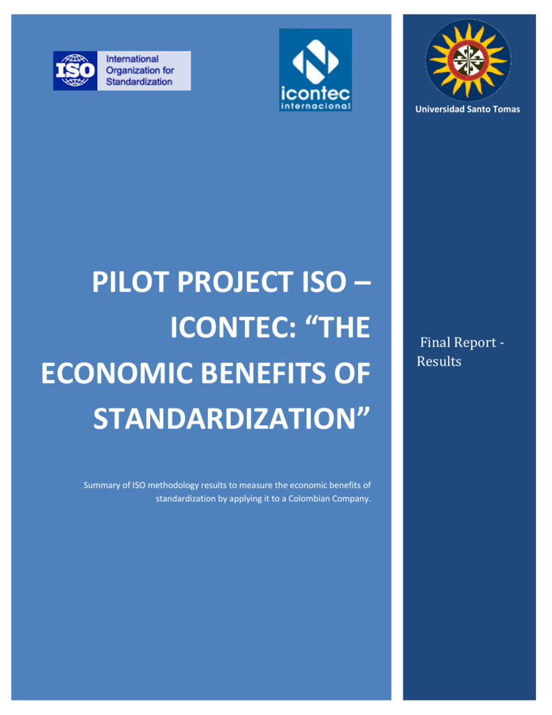 "pilot project iso – icontec: ""the economic benefits of"