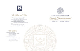 2015 Program - Commencement