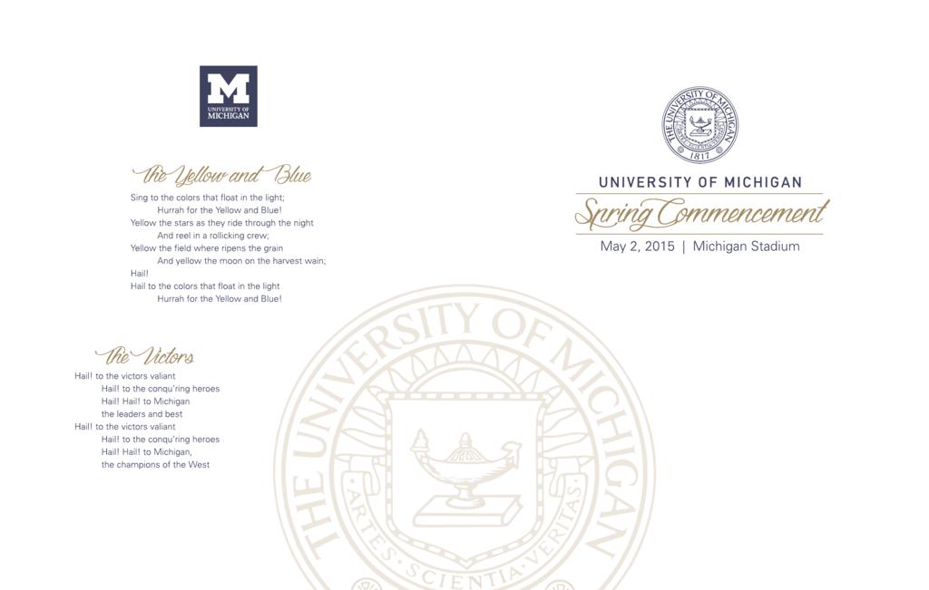 2015 Program Commencement