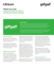 Giffgaff case study using community to build an entirely new