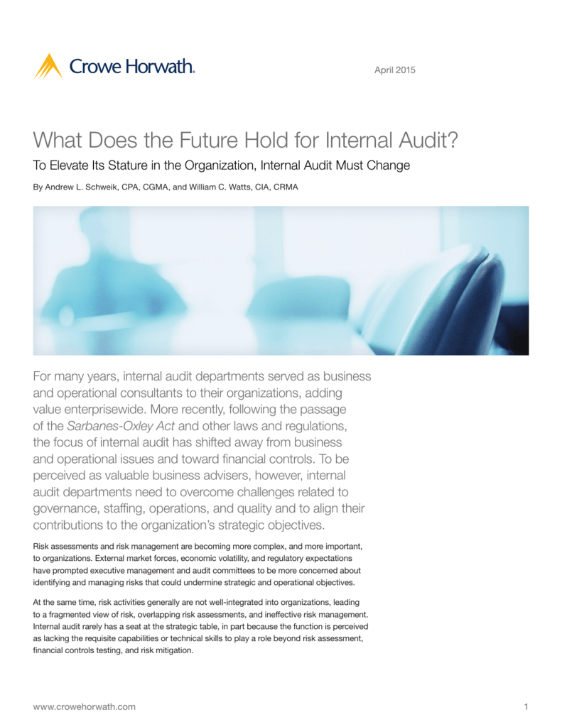 What Does the Future Hold for Internal Audit?