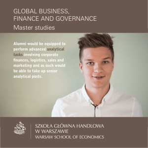 SGH Master Global Business, Finance and Governance
