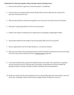 Freakonomics instructions part 1 - Freakonomics table of contents ...