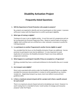 Disability Activation Project FAQs