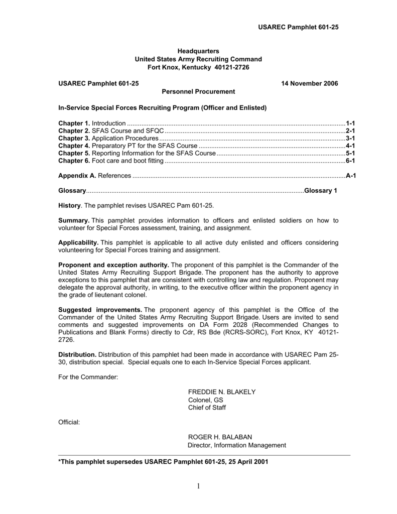 USAREC Pam 601-25