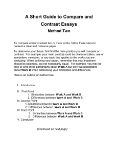 A Short Guide to Compare and Contrast Essays