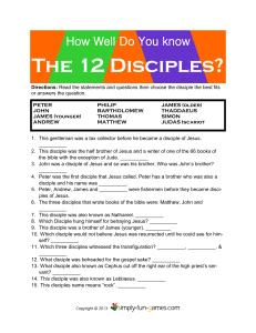The 12 Disciples? - Simply Fun Games